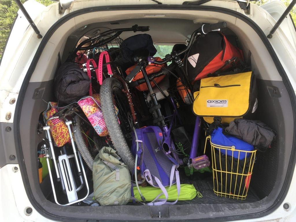 family bike camping